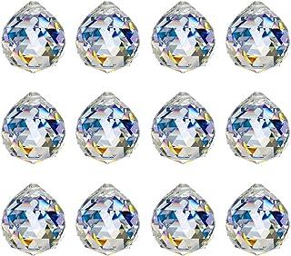 KARSLORA 40mm Clear Glass Crystal Ball Prism Rainbow Maker FengShui Lamp Hanging Drop Chandelier Pendant Window Suncatcher...