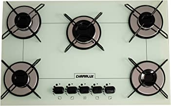 Cooktop Chamalux 5 bocas ultra chama branco gás natural