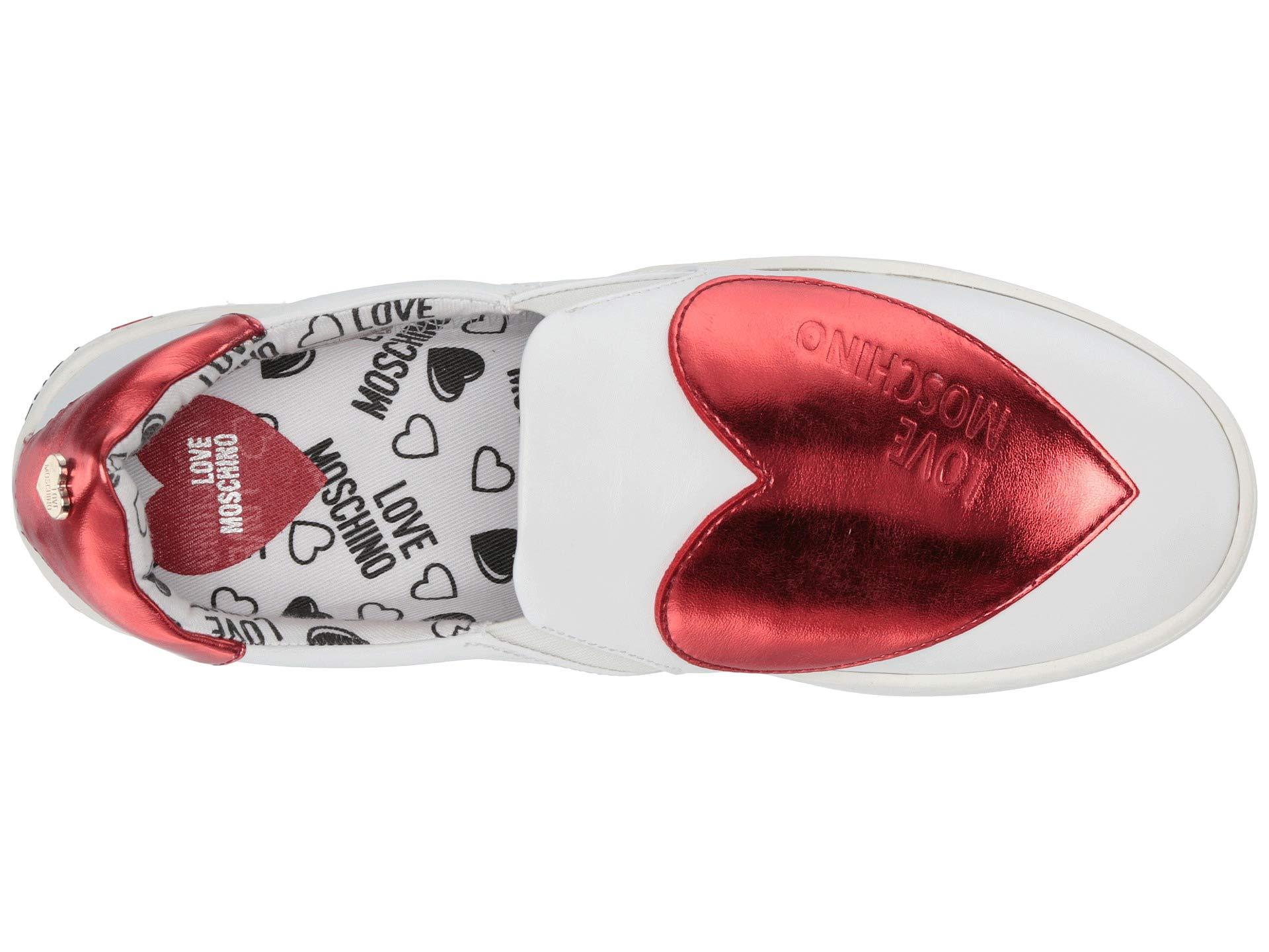 eadf45412b1 LOVE Moschino Slip-On Sneaker with Big Heart Logo at Luxury.Zappos.com