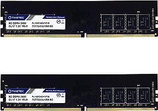 Timetec 16GB KIT(2x8GB) DDR4 2400MHz PC4-19200 Non-ECC Unbuffered 1.2V CL17 1Rx8 Single Rank 288 Pin UDIMM Desktop PC Comp...