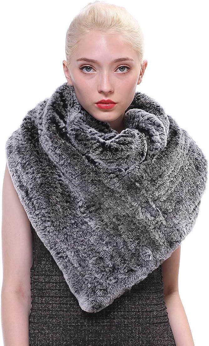 URSFUR Women Winter Rabbit Fur Scarf Max 75% New mail order OFF