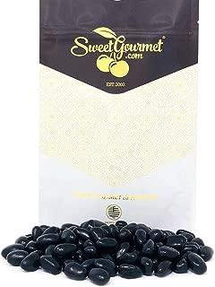 SweetGourmet Black Jelly Beans Eggs   Licorice Flavor Jelly Bulk Candy   1 Pound