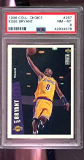 1996-97 Upper Deck Collector's Choice #267 Kobe Bryant ROOKIE RC PSA 8 Graded NBA Basketball Card Collectors