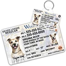 Wisconsin Driver License Custom Dog Tag for Pets and Wallet Card - Personalized Pet ID Tags - Dog Tags For Dogs - Dog ID Tag - Personalized Dog ID Tags - Cat ID Tags - Pet ID Tags For Cats