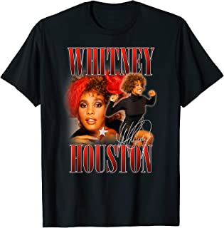 Whitney Houston Official 90's Red Retro Homage T-Shirt
