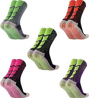 Calcetines de Los Hombres 1/ 5 Pares Calcetines de Fútbol Calcetines Deportivos Antideslizantes Calcetines Transpirables Calcetines de Entrenamiento Unisexo para Adultos 38-44