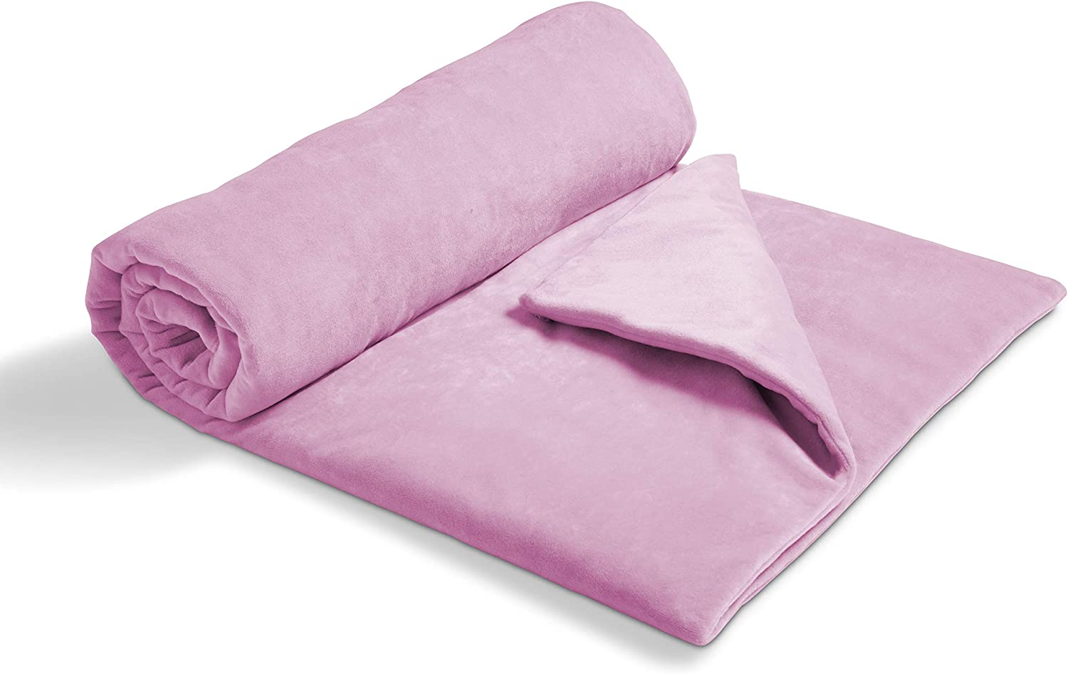 5 Pounds; Soft and Breathable Cover is Removable for Easy Washing; Weighted with Premium Glass Beads; 36 x 48 Pink Delta Children Weighted Blanket for Toddlers and Kids