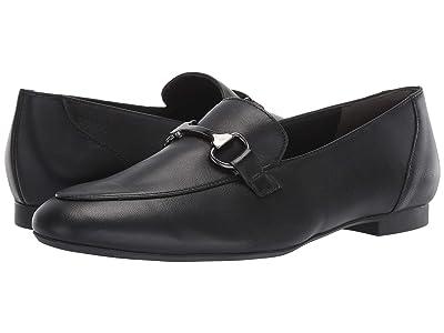 Paul Green Bailey Flat (Black Leather) Women