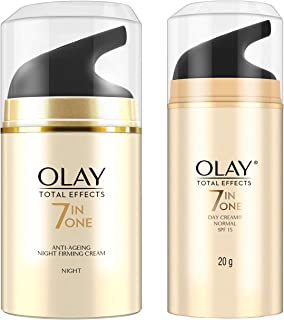 Olay Night Cream Total Effects 7 in 1, Anti-Ageing Moisturiser, 50g & Olay Day Cream Total Effects 7 in 1, Anti-Ageing SPF...