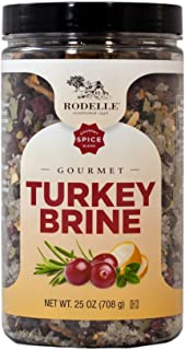 Rodelle Gourmet Turkey Brine, 25 Oz Jar, Good for Two Turkeys, Premium ingredients to Lock in Moisture | Turkey, Pork, Chicken, Fish