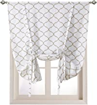 Regal Home Collections Shabby Lattice Tie Up Window Curtains - Assorted Colors (Linen)