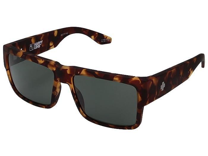 Spy Optic Cyrus (Soft Matte Camo Tort/Happy Gray Green) Sport Sunglasses