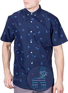 دکمه آستین کوتاه چاپ شده Visive Original اندازه پیراهن کوچک - مردان بزرگ 4XL