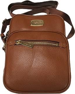 Michael Michael Kors Bedford Zip Leather Cross body Messenger Flight Bag Brown Luggage