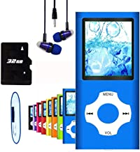 $23 » MP3 Player, Hotechs MP3 Music Player with 32GB Memory SD Card Slim Classic Digital LCD 1.82'' Screen Mini USB Port with FM...