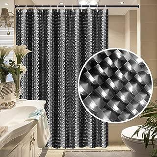 Frebw EVA Shower Curtain Liner with 12 Free Hooks, Waterproof 71x71-Inch, Eco-Friendly Bathroom Curtains