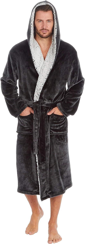 MICHAEL PAUL Luxuri/öser Herren-Bademantel aus weichem Fleece