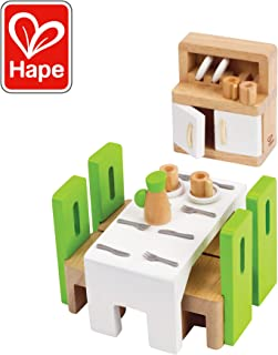 Hape Wooden Doll House Furniture Dining Room Set