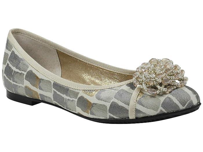 J. Renee Mallantha (Taupe/Gold Croco) Women's Shoes