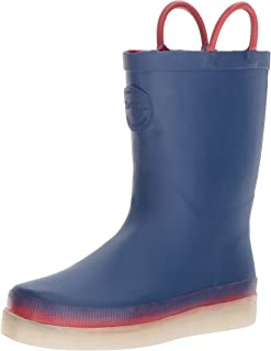 Western Chief Kids Girls LED Rainboot Rubber Mid-Calf Pull On Rain Boots US