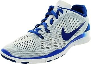 Nike Womens Free 5.0 Tr Fit 5 White/Game Royal Turf Soccer Shoe 6.5