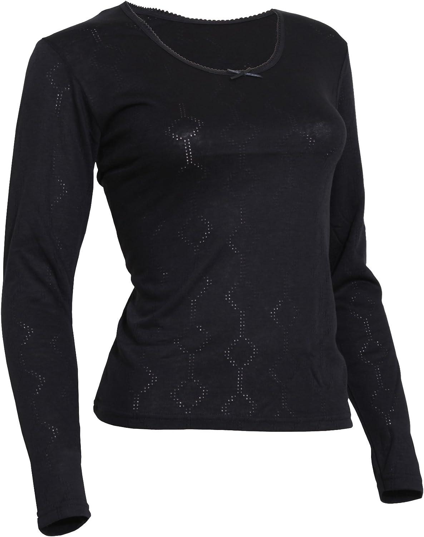 Floso Ladies/Womens Thermal Underwear Long Sleeve T-Shirt Viscose Premium Range