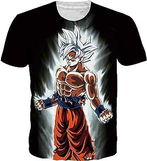 9e2a46b38a89a OPCOLV Men's Dragon Ball z Shirt Goku Cool Graphic 3D Printed Short Sleeve T -Shirts
