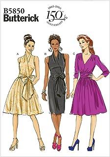 قالب خياطة فستان من Butterick Patterns B5850 Misses، مقاس F5