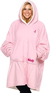 THE COMFY: The Original Blanket Sweatshirt, Seen on Shark Tank, Invented by 2 Brothers, Warm, Soft, Cozy, Wearable Sherpa Hoodie, Susan G Komen, Breast Cancer, One Size Fits All, Adults, Women