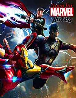 Marvel Heroes Coloring Book: JUMBO Super Heroes Coloring Book For Toddlers And Kids, With 48 Great Images
