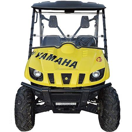 Made in the USA!. Compatible with Yamaha Rhino Full Tilting UTV Windshield 3//16