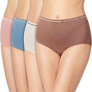 Ellen Tracy Essentials Womens Seamless Briefs 4-Pack Panties