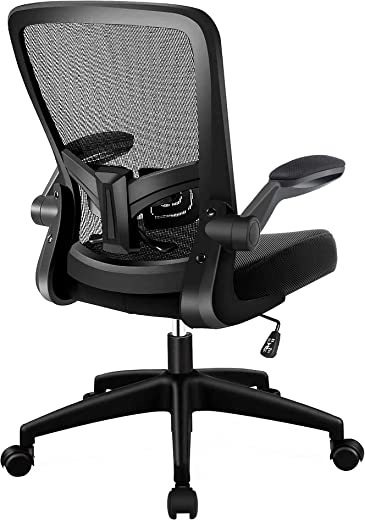 HOMIDEC Bürostuhl Ergonomisch Schreibtischstuhl, Drehstuhl mit Verstellbarer Höhenverstell & Rückenlehne und Armlehne Funktion Atmungsaktiver…