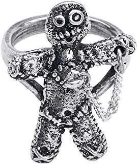 Alchemy England Voodoo Doll with Stick Pin Gothic Spells Pewter Ring