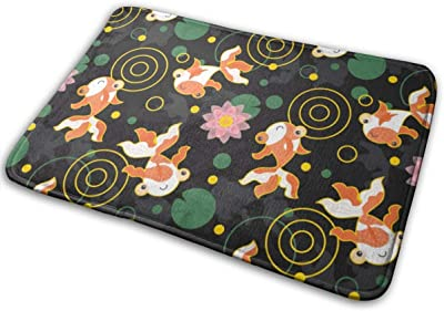 """Cute Kawaii Goldfish Indoor Doormat Front Back Door Mat,23.6""""x15.8"""" Mat Non Slip Large Door Rug"""