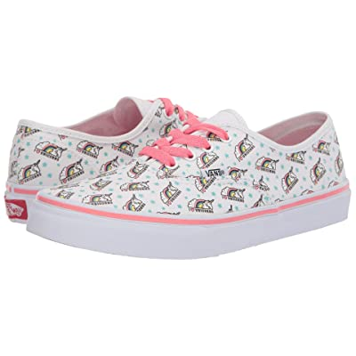 Vans Kids Authentic (Little Kid/Big Kid) ((Unicorm) White/Strawberry Pink) Girls Shoes