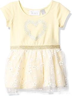 فستان للفتيات قصير الأكمام من ذا كيدز بليس فستان كاجوال
