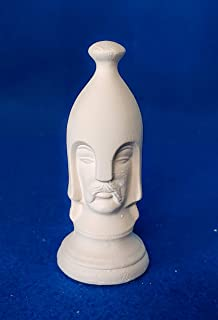 Pawn replacement piece for Chess Set unpainted ceramic bisque ready to be painted