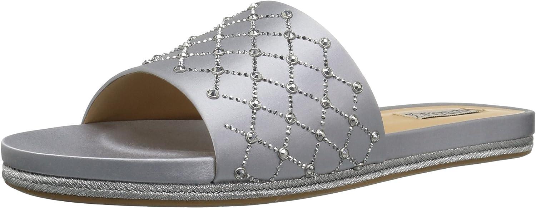 Badgley Mischka Womens Shayna Flat Sandal