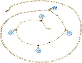 Body Candy Baby Blue Spring Flower Bead Dangle Belly Chain 38