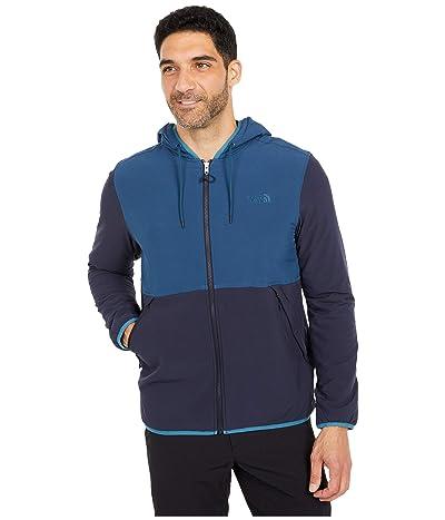 The North Face Mountain Sweatshirt Full Zip Hoodie (Blue Wing Teal/Aviator Navy) Men