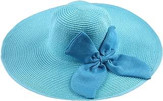 Casquette Enfant Garcon 2019 Ladies Summer Large Brim Straw Hat Floppy Wide Brim Sun Cap Bowknot Beach Foldable New