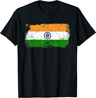 Distressed India Flag - 15 August Independence Day T-shirt