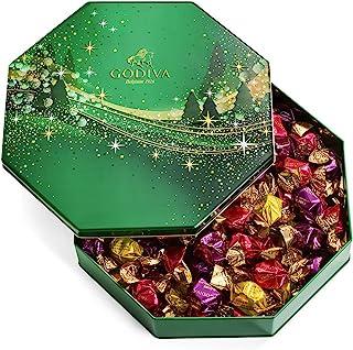 Godiva Chocolatier Holiday Assorted Chocolate Truffles Tin, 14.3 Oz.
