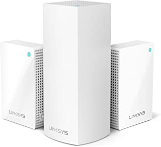 Linksys WHW0203P Velop Plug-in Home Mesh WiFi System Bundle (Dual/Tri-Band Combo) - WiFi Router/WiFi Extender for Whole-Ho...