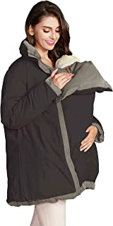 Sweet Mommy Reversible Maternity Pregnancy Baby Carrier Babywearing Down Coat Removable Panel