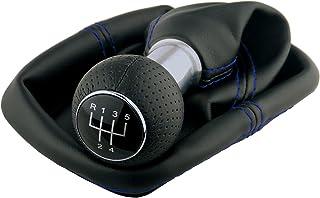 L & P Car Design L&P A252 10 Schaltsack Schaltmanschette Schwarz Naht Blau Schaltknauf 5 Gang 23mm kompatibel mit VW Golf 4 VI Rahmen Knauf Plug Play Ersatzteil für 1J0711113