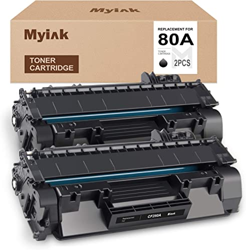 high quality MYIK Compatible Toner high quality Cartridge Replacement for HP CF280A 80A to use with Laserjet Pro 400 MFP M425 MFP M425dn MFP M425dw M401 M401a M401n M401d M401dn M401dne M401dw (Black, online 2-Pack) outlet online sale