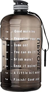 Upmore Water Bottle Time Marker and 73/128 oz 1 Gallon Large Capacity Wide Mouth BPA Free Reusable Gym Sports Outdoor Ensure You Drink Enough Water Throughout The Day