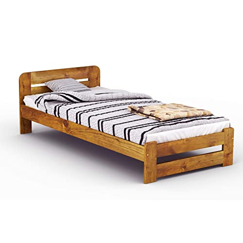 Solid Wood Single Bed Frames Amazoncouk